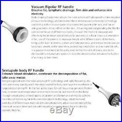 220V 6in1 Vacuum Ultrasonic Cavitation 40K RF Body Slimming Cellulite Machine