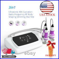 3IN1 Vacuum RF Ultrasonic Cavitation Radio Frequency Slimming Fat Burner Machine