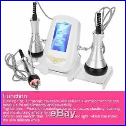 3 IN 1 Ultrasonic Vacuum Cavitation RF Radio Frequency Fat Removal Machine Spa
