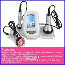 3 in 1 Vacuum Ultrasonic Cavitation Radio Frequency RF Body Massager Machine PO