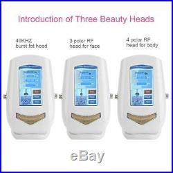 3 in 1 Vacuum Ultrasonic Ultrasound Cavitation Frequency RF Massager Machine