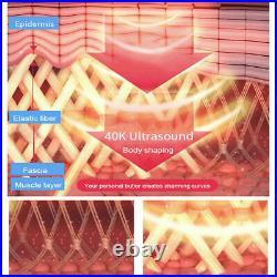 40K Cavitation Ultrasonic RF Vacuum Body Slimming Machine Cellulite Fat Removal