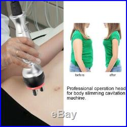 40K Ultrasonic Cavitation Anti Cellulite Machine Weight Loss Fat Remove Heads