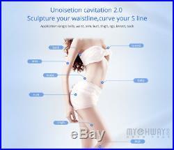 40K Ultrasonic Cavitation Vacuum Unoisetion Fat RF Skin Lifting Machine+Gift