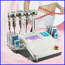 4 / 6 in 1 Vacuum Ultrasonic Cavitation RF Radio Frequency Body Slimming Machine