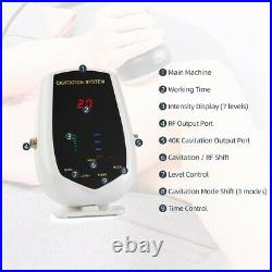 4 in 1 Ultrasonic 40K Cavitation Full Body Slimming Machine Fat Burner Massager