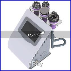 5IN1 Multipolar RF Vacuum Ultrasonic Cavitation lose weight Machine USA Ship