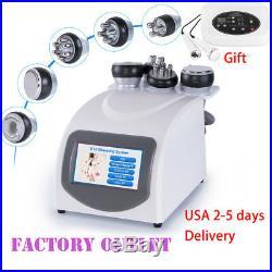 5IN1 Ultrasonic Cavitation RF Radio Frequency Slim Machine With 5 head With Gift
