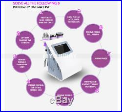 5-1 Ultrasonic Cavitation RF Radio Frequency Vacuum Liposuction Slimming Machine
