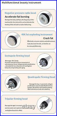 5-1 Ultrasonic Cavitation Radio Frequency Beauty Machine RF Face Body Slimming