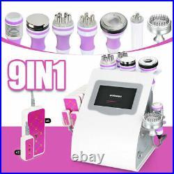 5/6/8/9 in1 Unoisetion 40K Cavitation Vacuum Ultrasonic RF Laser Beauty Machine