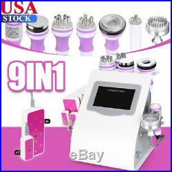 5/6/8/9 in 1 Ultrasonic Cavitation Machine Vacuum RF Cellulite&Fat Remover USA
