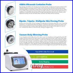 5 in1 40K Cavitation Ultrasonic Radio Frequency Vacuum RF Cellulite Slim Machine