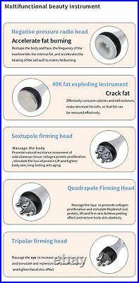 5 in1 Ultrasonic Cavitation Radio Frequency Beauty Machine RF Face Body Slimming