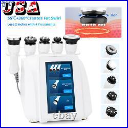 5in1 360° Automatic Rotary RF Ultrasonic Cavitation Vacuum Body Slimming Machine