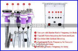 5in1 Radio Frequency Ultrasonic Vacuum Tripolar RF Cavitation Slimming Machine