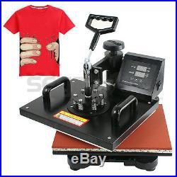 5in1 SWING AWAY PRINT SUBLIMATION HEAT PRESS TRANSFER MACHINE T-SHIRTS MUGS HATS