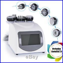 5in1 Ultrasonic Cavitation Machine RF Radio Frequency Vacuum Skin Tightening Spa