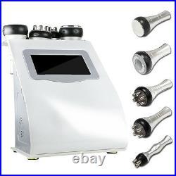 5in1 Ultrasonic Cavitation Radio Frequency Vacuum RF Body Slimming Machine Salon