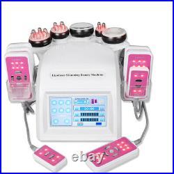 6IN1 Vacuum Ultrasonic Cavitation Radio Frequency RF Lipo Body Slimming Machine