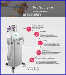6In1 Cavitation Ultrasonic Vacuum RF Photon Body Slimming Beauty Machine Salon