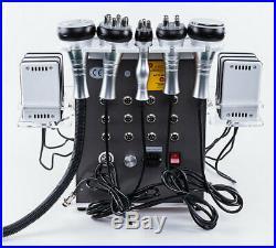 6-1 Ultrasonic Cavitation Radio Frequency Lipo laser Vacuum Body Shaping Machine