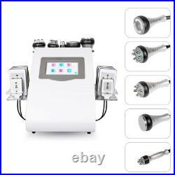 6-1 Ultrasonic Cavitation Radio Frequency Vacuum Body Slimming Skin Machine FDA