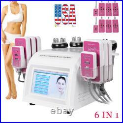 6 IN1 Vacuum Ultrasonic Cavitation Radio Frequency RF Lipo Body Slimming Machine