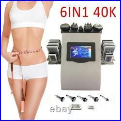 6 IN 1 Vacuum Ultrasonic Cavitation Radio Frequency RF Body Slimming Machine Spa