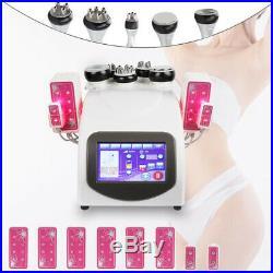 6 In 1 40K Ultrasonic Cavitation Vacuum Radio Frequency 8 Pad Laser Slim machine