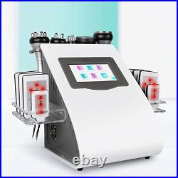 6 In 1 Ultrasonic Cavitation Tripolar Vacuum RF Body Sculpting Slimming Machine