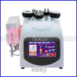 6 in1 Pro 40K Cavitation Ultrasonic Cellulite Fat Removal RF Multipolar machine