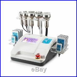 6 in1 RF lipo Slimming Vacuum Ultrasonic Cavitation Machine laser weight loss