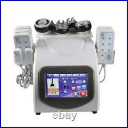 6 in1 Ultrasonic Cavitation RF Radio Frequency Vacuum Slimming Cellulite Machine