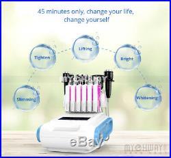 6 in1 Ultrasonic Cavitation Vacuum RF Radio Frequency Slimming Cellulite Machine