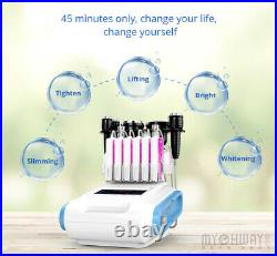 6 in1 Ultrasonic Vacuum Cavitation RF Frequency Body Slimming Cellulite Machine