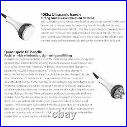 6 in1 Vacuum Ultrasonic Cavitation 40K RF Body Slimming Anti-Cellulite Machine