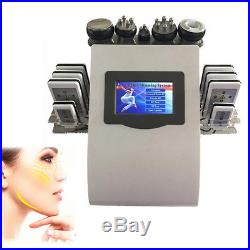 6 in1 Vacuum Ultrasonic Cavitation RF Radio Slimming Body Cellulite Machine 220V