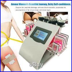 6 in 1 40KHz Cavitation Vacuum RF Body Shape Beauty Machine Ultrasonic Massager
