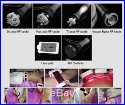 6 in 1 Ultrasonic Cavitation Radio Frequency Slim Machine Vacuum Body Shaping