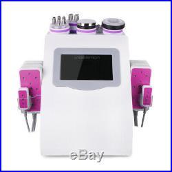 6 in 1 Ultrasonic Cavitation Radio Frequency Slim Machine Vacuum Body fat burner