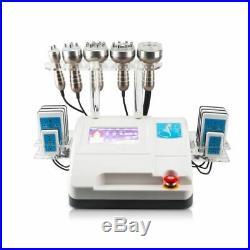 6 in 1 vacuum cavitation slimming machine cavi lipo RF fat reduction laser