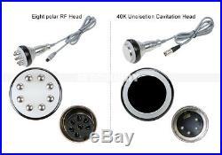 6in1 40K Cavitation Ultrasonic Radio Frequency Vacuum RF Fat Removal Spa Machine