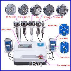 6in1 40K RF Ultrasonic Cavitation Radio Frequency Vacuum Cellulite Machine Slim