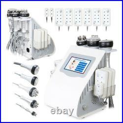 6in1 40K Vacuum Ultrasonic Cavitation RF Body Slimming Cellulite Machine Spa US