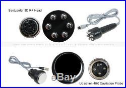 6in1 Cavitation Ultrasonic RF Beauty Cellulite Removal Lipo Laser Slim Machine