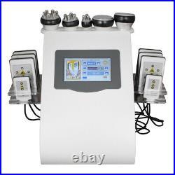 6in1 Cavitation Ultrasonic Radio Frequency Lipo Laser Slimming Cellulite Machine
