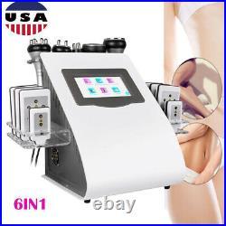 6in1 Ultrasonic 40K Cavitation Radio Frequency Vacuum Slimming Cellulite Machine