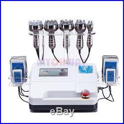6in1 Ultrasonic Cavitation Radio Frequency RF Vacuum Cellulite Burning Machine