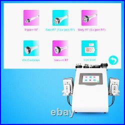 6in1 Ultrasonic Cavitation Radio Frequency Vacuum RF Slimming Cellulite Machine